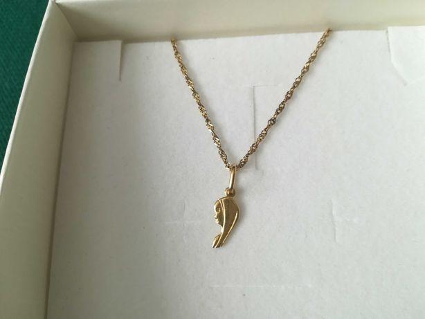 Złoty łańcuszek z medalikiem 333