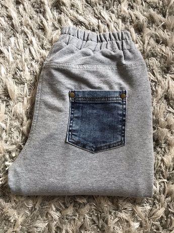 Spodnie dresowo- jeansowe
