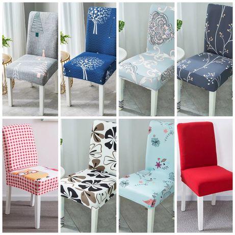 Nowe pokrowce na krzesła 8 wzorów do wyboru OKAZJA