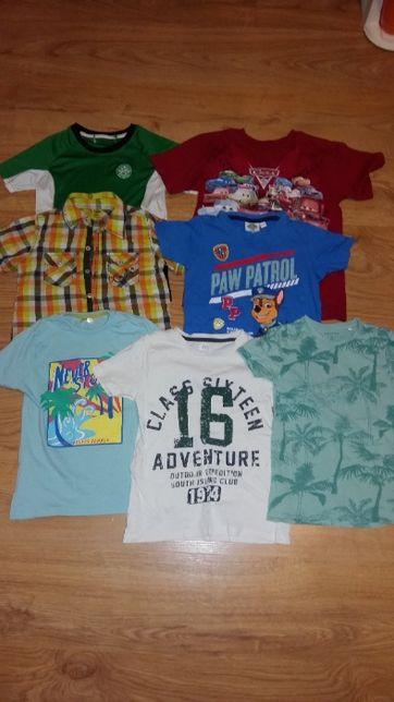 122,128 ubranka chłopięce koszulki