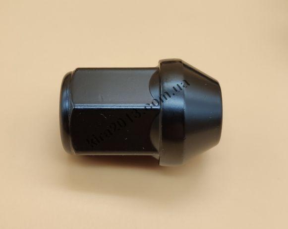 Колесные гайки М12х1.5 черные ключ 19мм Киа Мазда Авео Тойота Хонда