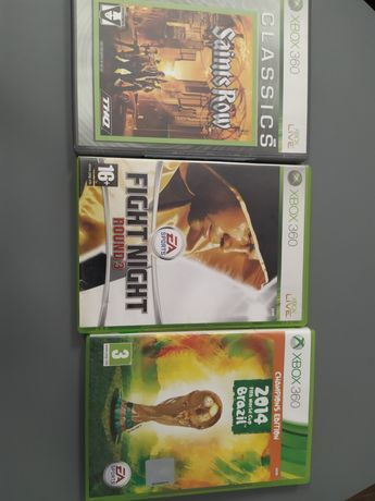 Gry Xbox360 Saints Row, Fight Night Round 3, FIFA World Cup Brasil