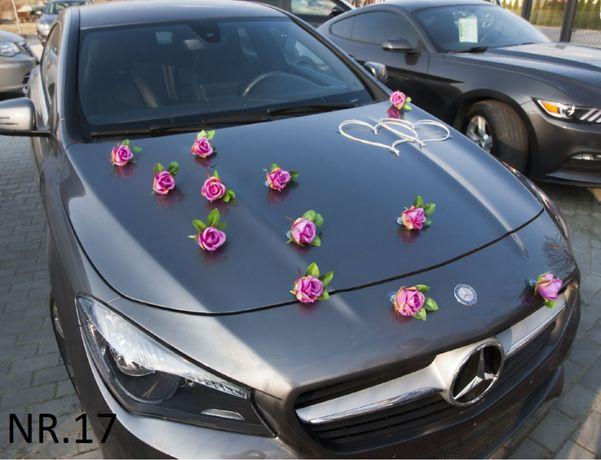 Dekoracja samochodu ozdoba na auto do ślubu NR.17 DOWOLNY KOLOR