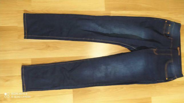 Damskie spodnie jeansowe na gumkę