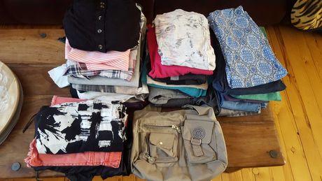 Ciuchy zestaw rozmiar xs/s spodnie, swetry, koszulki, sukienki itd