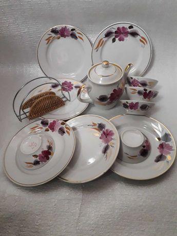 Чайный сервиз СССР Новый тарелки пиалки