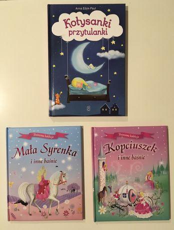 3 Książeczki - Kołysanki przytulanki, Mała Syrenka, Kopciuszek