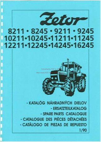 Katalog części Zetor 8211, 9211, 10211, 11211, 12245, 14245, 16245
