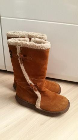 Kozaki śniegowce dla dziewczynki r 35 skóra naturalna zamsz RACKET DOG