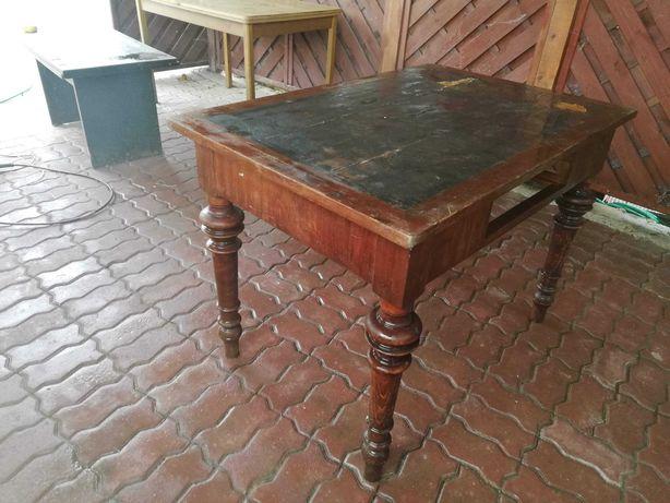 Stół antyczny stary zabytkowy klejony zamiana