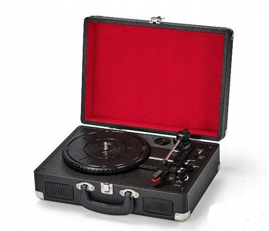 Gramofon walizka z funkcją Bluetooth i akumlatorem