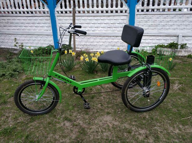 трехколесный грузовой велосипед для взрослых