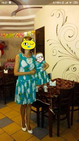 Платья в стиле фемели лук мама дочка