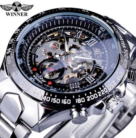 Zegarek mechaniczny T-Winner Skeleton z pudełkiem prezentowym