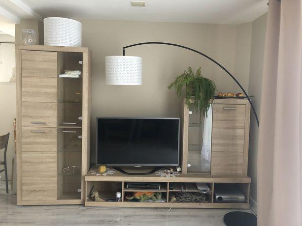 Meblościanka meble do salonu sypialni bezowe drewniane meble do tv