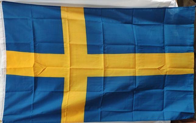 Флаг Швеции 90х150 см качественній - для внешнего и внутреннего примен
