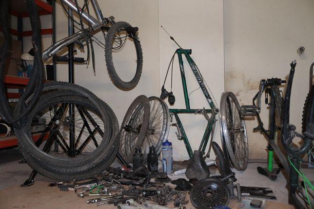Diversas peças para bicicleta