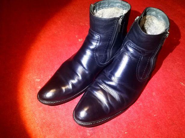 Кожаные сапоги ботинки Strado 45
