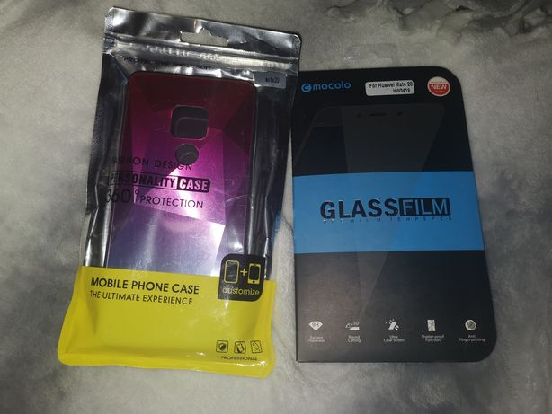 Чехол + защитное стекло Huawei mate 20