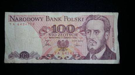 Banknot 100zł PRL z 1986r