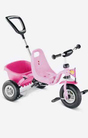 Трехколесный велосипед с ручкой Puky CAT 1L Розовый