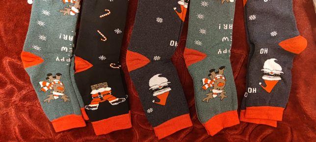 Шкарпетки новорічні, носки новогодние, подарунок, family look, подарок
