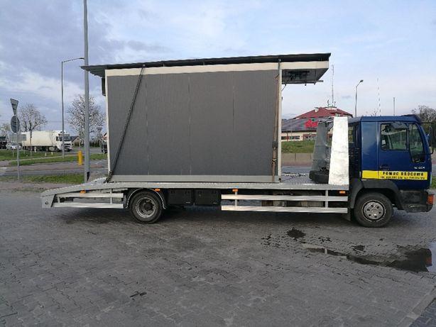 Pomoc drogowa autolaweta transport maszyn Sochaczew Błonie Kampinos