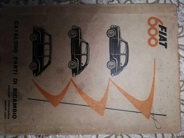 Sprzedam oryginalny włoski katalog do Fiat 600
