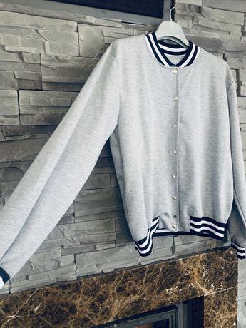 Nowa bluza bejsbolówka szara bluza kurtka roz uni