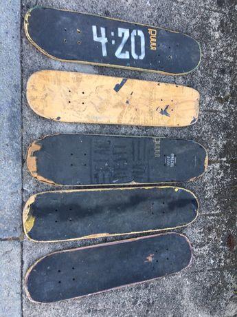 Vendo pranchas de skate usadas