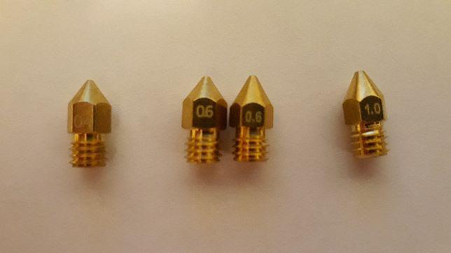 Nozzles para impressoras 3D (0.4mm + 0.6mm + 1.0 mm)