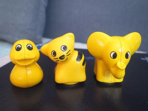 Zestaw zwierząt kotek, słoń i kaczka Lego Duplo Primo