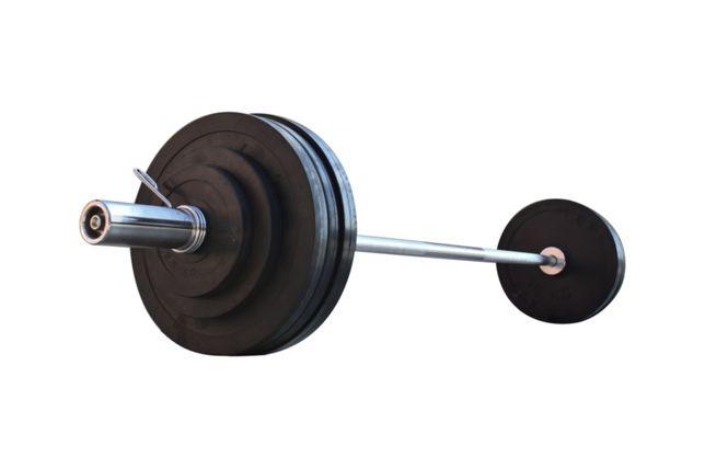 Штанга для жима обрезиненная  105 кг с олимпийским грифом 220
