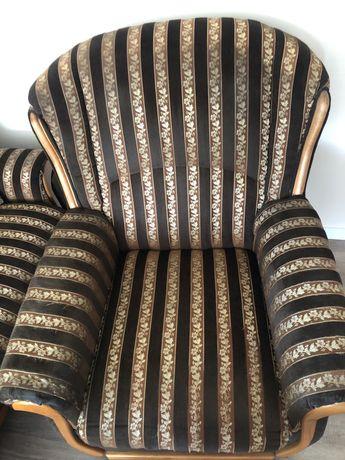 Kanapa rozkładana +dwa fotele