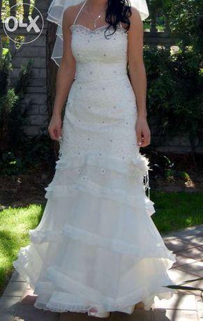 Suknia Ślubna R.34-36 ECRU-SYRENA