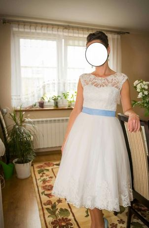 Sukienka ślubna styl lat 60