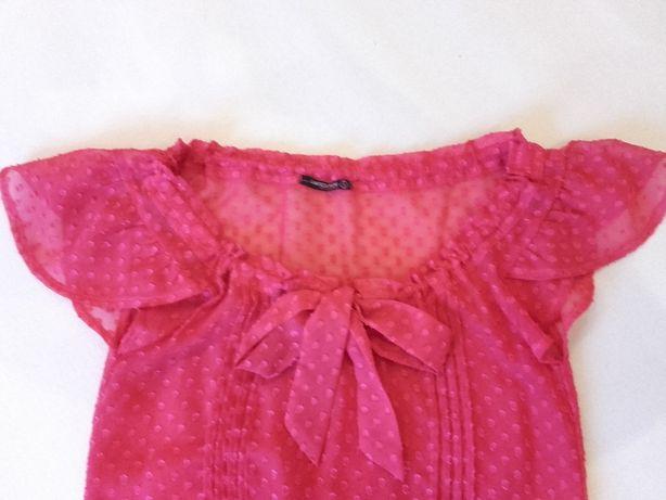 Nowa bluzka Terranova kolor fuksja roz. S różowa różowy