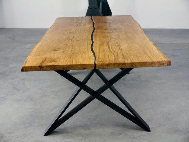 Wyjątkowy stół drewniany nowoczesny industrialny minimalistyczny