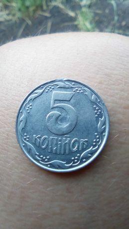 Манета 5 копеек 1992 року