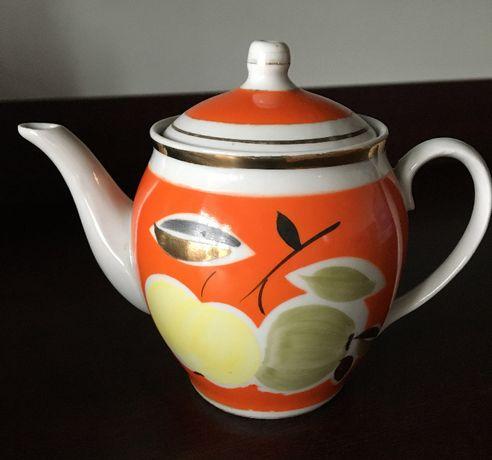 Чайник заварник фарфоровый, сахарница
