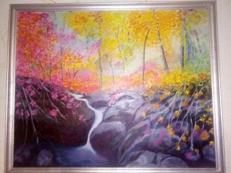 Картина маслом - водопад