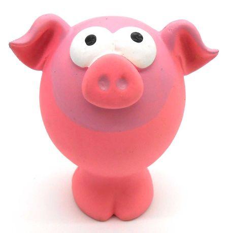 Zabawka gumowa lateksowa piszczałka dla psa gryzak świnia świnka 11cm