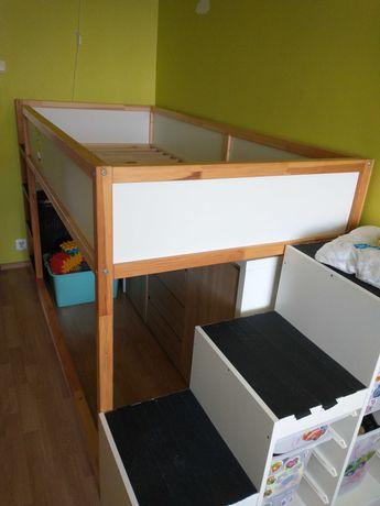 Łóżko dziecięce Kura, piętrowe 90x200-dwustronne Ikea