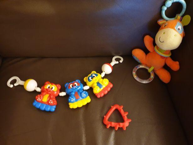 Zabawki do wózka i gryzaczek