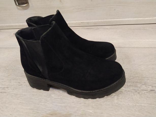 Cropp botki 38 czarne