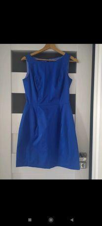 Chabrowa krótka sukienka