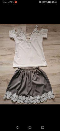 Zestaw spódniczka +bluzka