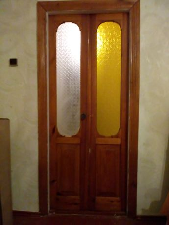 Двойная межкомнатная дверь с обналичкой