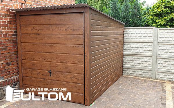Garaż 2x3m schowek blaszany drewnopodobny z bramą uchylną - PRODUCENT