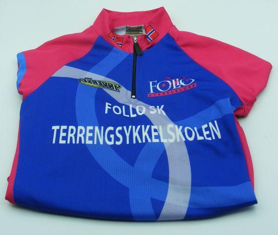 Koszulka kolarska dziecięca roz. 12 rozm. 127- 140 cm INVERSE